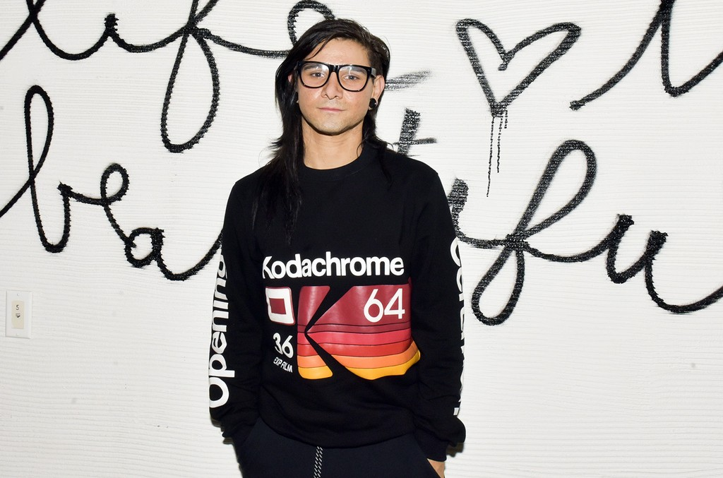 Skrillex photographed at the Poo Bear Grammy Party at Serafina Sunset on Feb. 10, 2017 in West Hollywood, Calif.