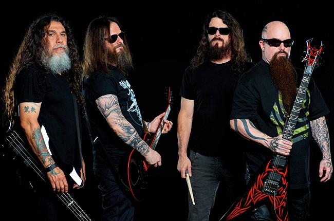 Slayer's Tom Araya, Gary Holt, Paul Bostaph and Kerry King photographed in 2015.