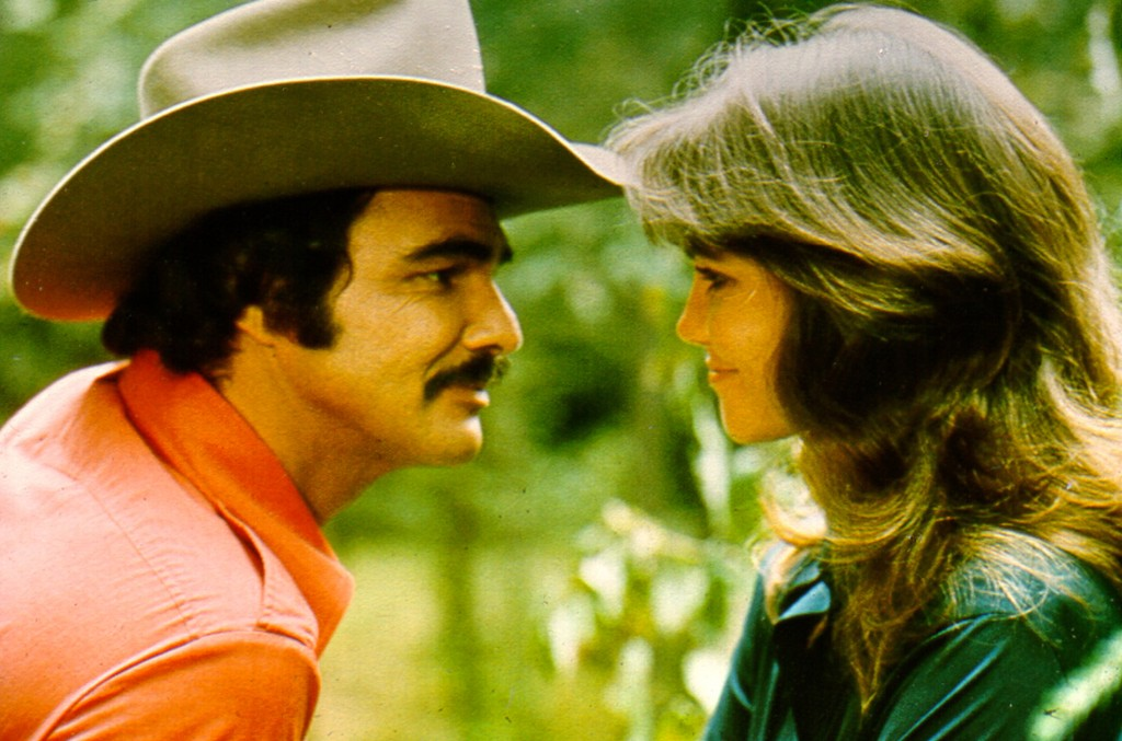 Burt Reynolds and Sally Field in Smokey and the Bandit.