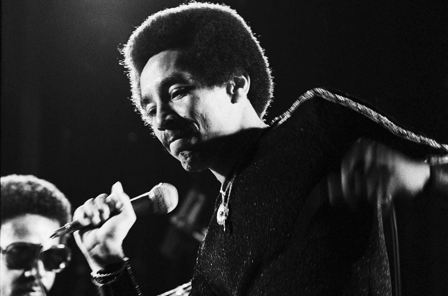 Smokey Robinson performing in 1975.