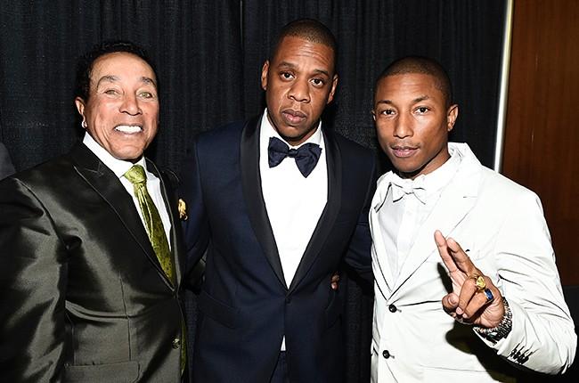 Smokey Robinson, Jay-Z and Pharrell Williams