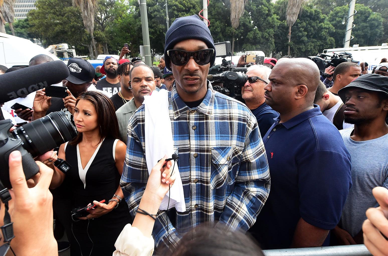 Snoop Dogg at LA Demonstration