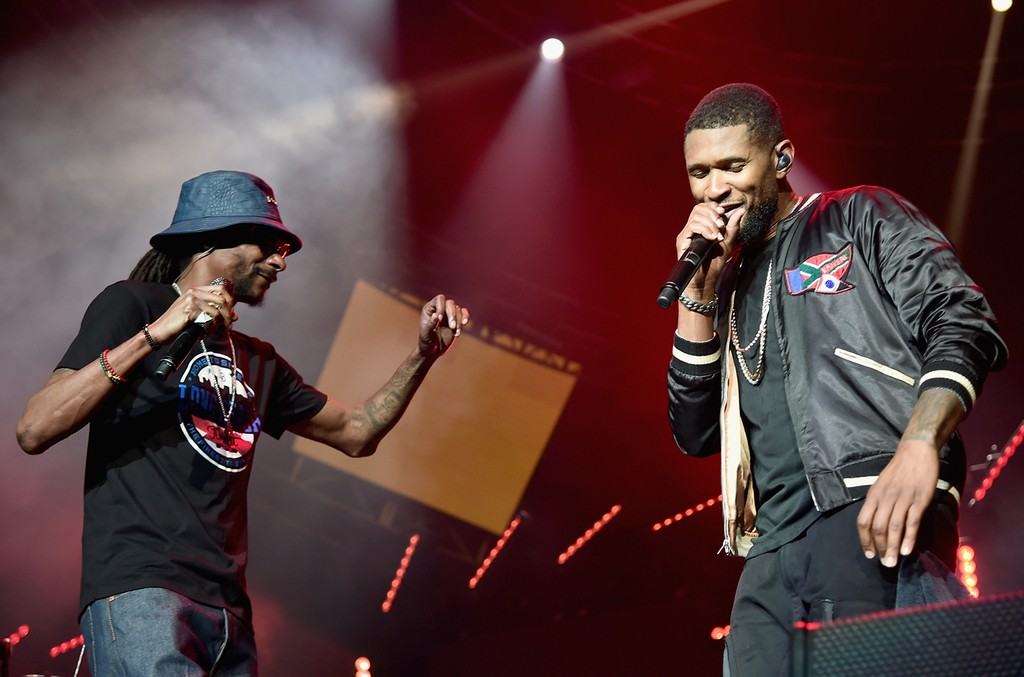 Snoop Dogg and Usher at the 2016 BET Experience