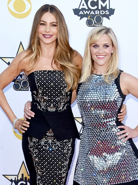 Sofia Vergara and Reese Witherspoon attend the 50th Academy Of Country Music Awards