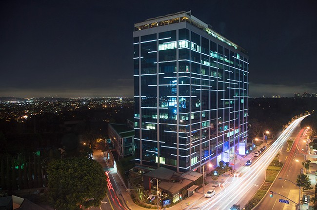 Sunset Strip, home of Soho House, BOA Steakhouse, and Bootsybellows night club in West Hollywood