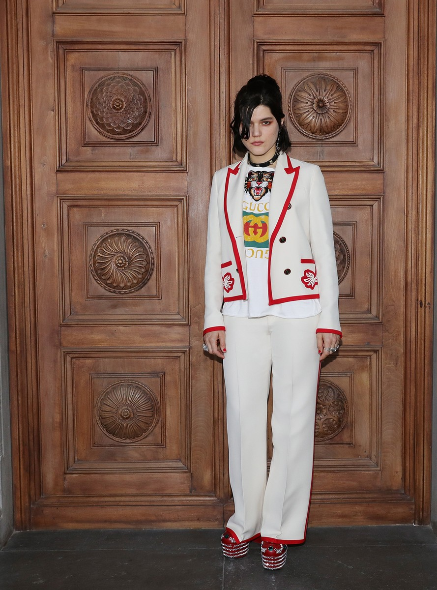 Soko attends the Gucci Cruise 2018 After show party at Serre Torrigiani on May 29, 2017 in Florence, Italy.
