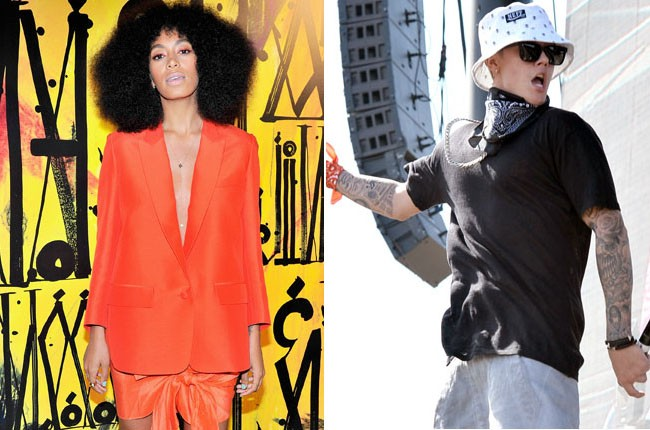 Solange Knowles and Justin Bieber
