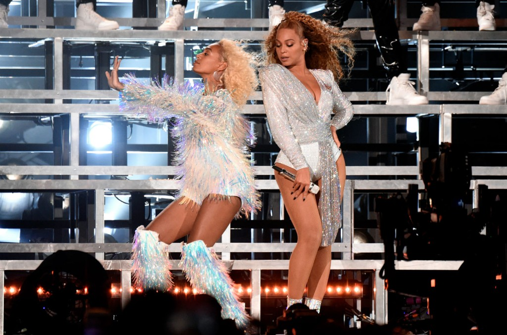 Solange Knowles & Beyonce Knowles at Coachella