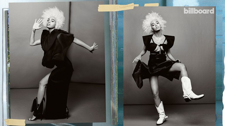 <p>Solange photographed Dec. 8, 2017, at Milk Studios in New York. Styling by Kyle Luu. Left: Solange wears a&nbsp&#x3B;Romeo Gigli coat from New York Vintage and Helmut Lang Seen by Shayne Oliver skirt and shoes. Right:&nbsp&#x3B;Helmut Lang Seen by Shayne Oliver dress, Calvin Klein boots and Aoko Su earring.</p>