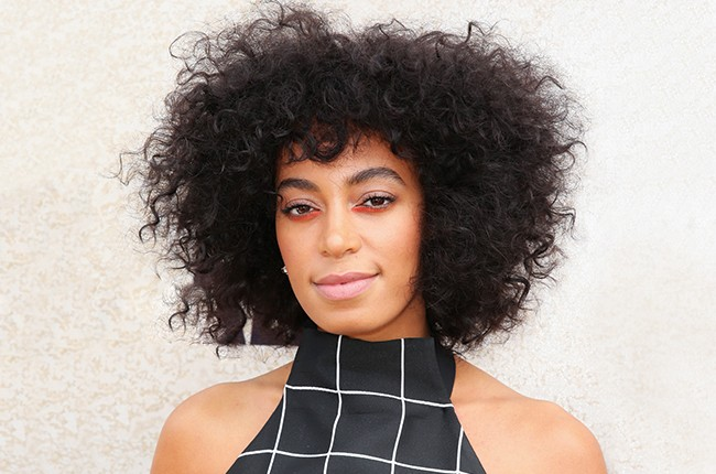 Solange Knowles arrives at the Lavazza Marquee on Derby Day 2014