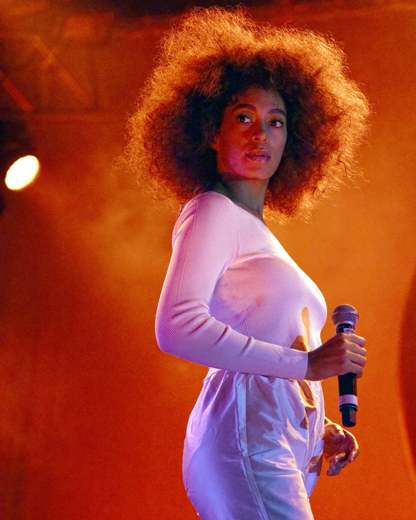 Solange performs during the Okeechobee Music Festival on March 4, 2017 in Okeechobee, Fla.