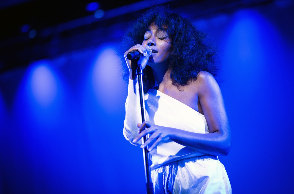 Solange performs on Jan. 19, 2017 at the National Museum of African American History and Culture in Washington, DC.