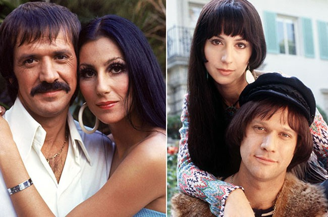 Cher and Sonny Bono and Renee Faia and Jay Underwood as Cher and Sonny