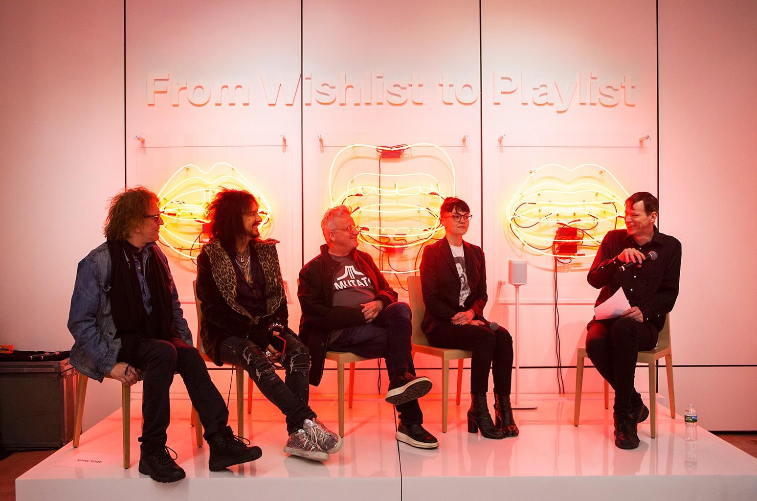Mick Rock, Nikki Sixx, Mark Mothersbaugh, Meredith Graves, and Rob Sheffield