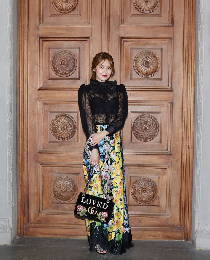 Sooyoung Choi attends the Gucci Cruise 2018 After show party at Serre Torrigiani on May 29, 2017 in Florence, Italy.