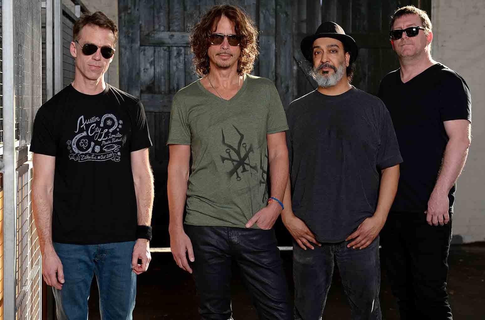Soundgarden pose for portraits at the Soundwave Festival at Melbourne showgrounds on Feb. 22, 2015 in Melbourne, Australia.