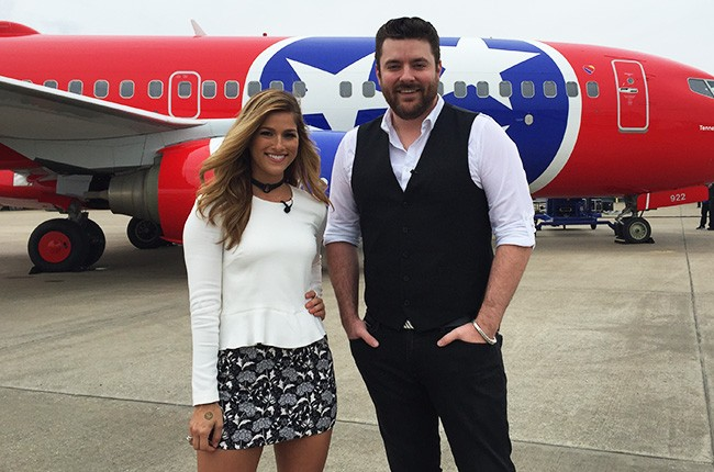 Southwest surprises guests onboard Tennessee One with a surprise performance by Chris Young and Cassadee Pope.