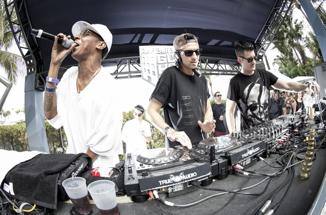 Spank Rock, Boys Noize and Destructo perform at Red Bull Guest House in Miami