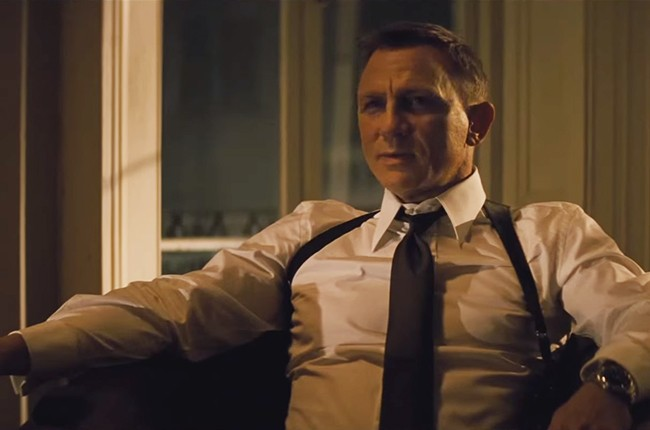 """A still from the 2015 James Bond film trailer for """"Sprectre."""""""