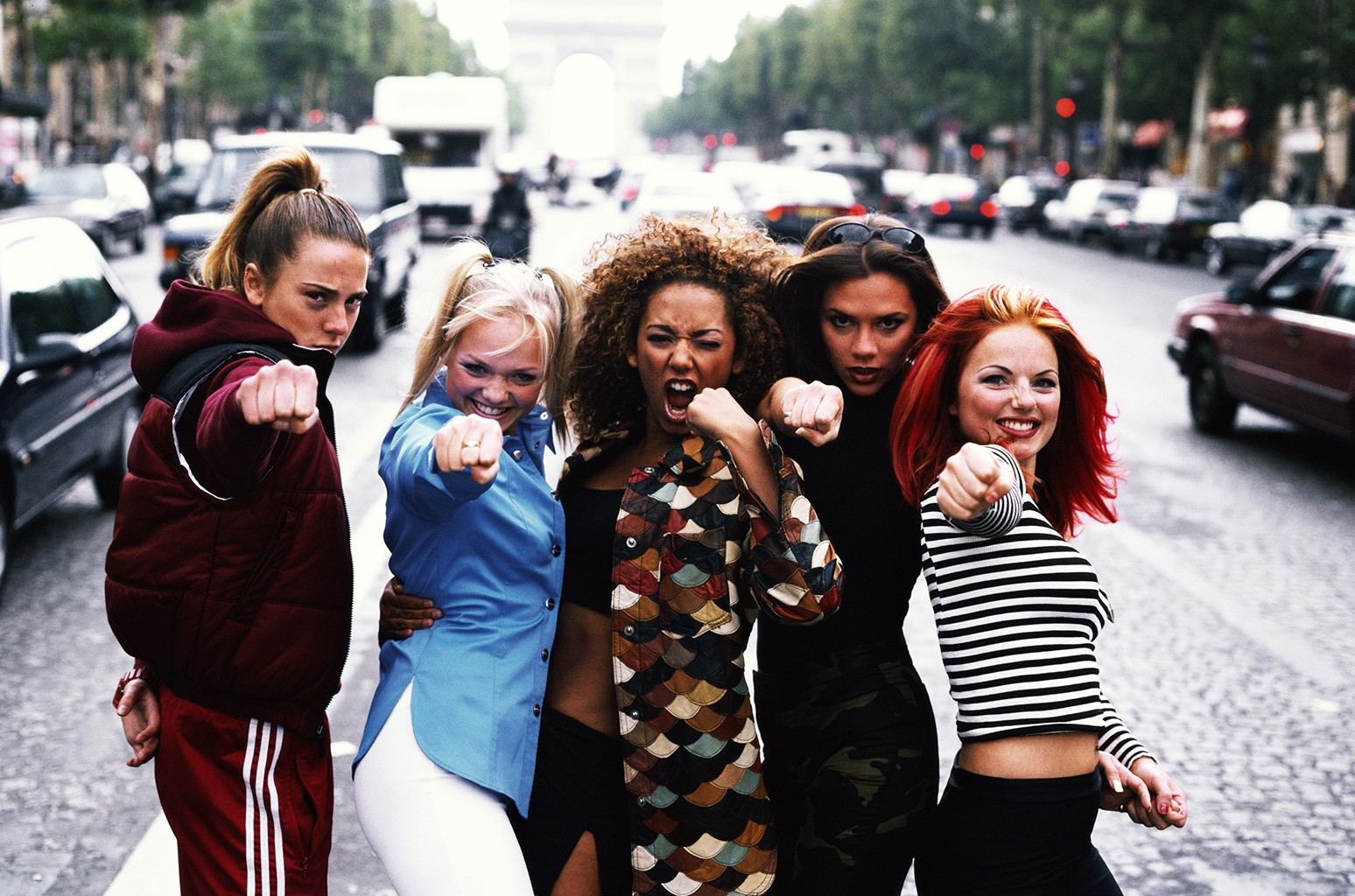 The Spice Girls photographed in 1996