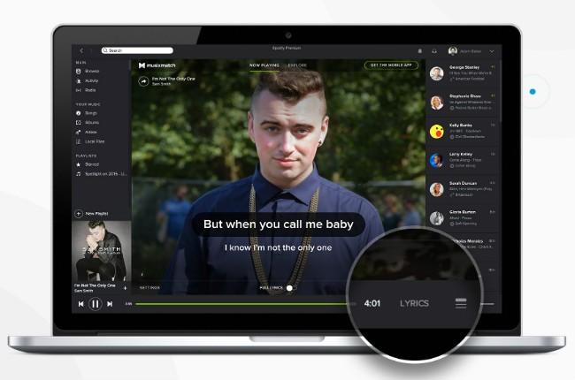 Spotify's lyrics integration.