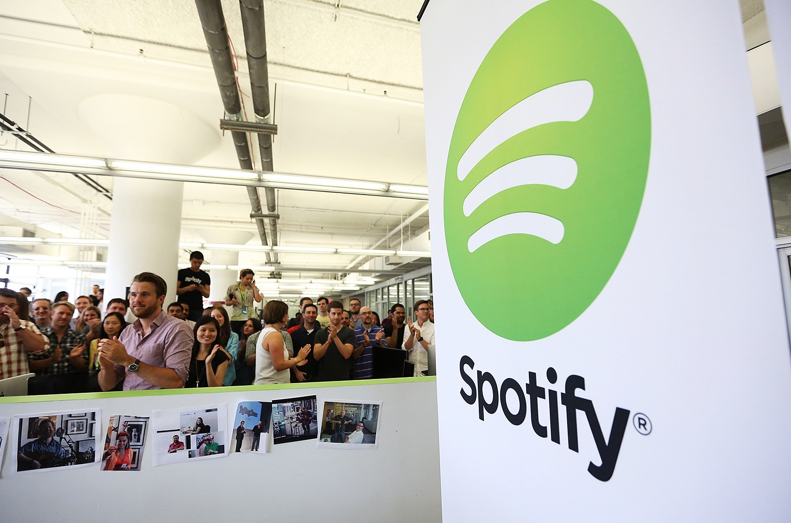 The Spotify offices in New York City