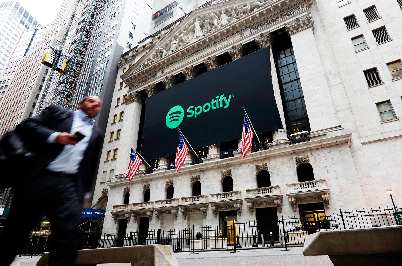 Spotify Wall street