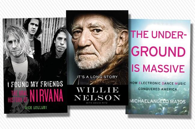 spring book preview -- willie nelson -- nirvana -- edm underground