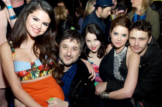 Selena Gomez, Harmony Korine, Vanessa Hudgens, Ashley Benson and James Franco