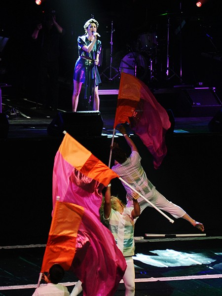 St. Vincent performs during Contemporary Color, Conceived By David Byrne