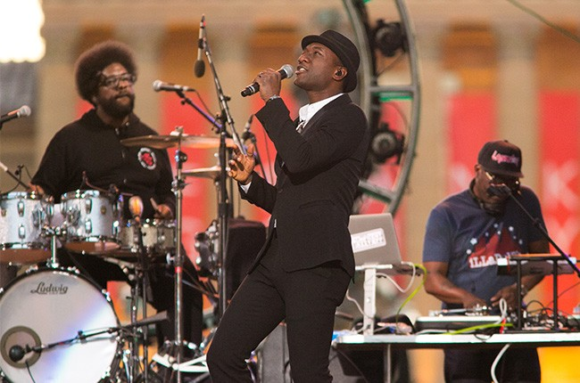 Aloe Blacc performs at the 2014 Philly 4th Of July Jam