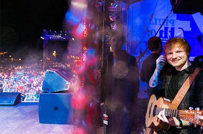Ed Sheeran performs at the 2014 Philly 4th Of July Jam