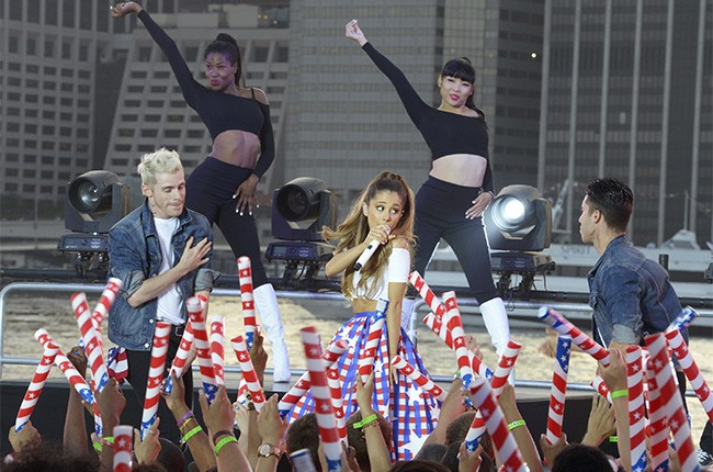 Ariana Grande performs at the Macy's Fourth of July Fireworks Spectacular