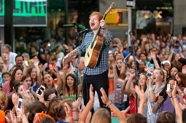 Ed Sheeran performs on the Today Show