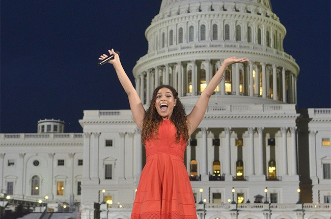 Jordin Sparks performs at the Capitol