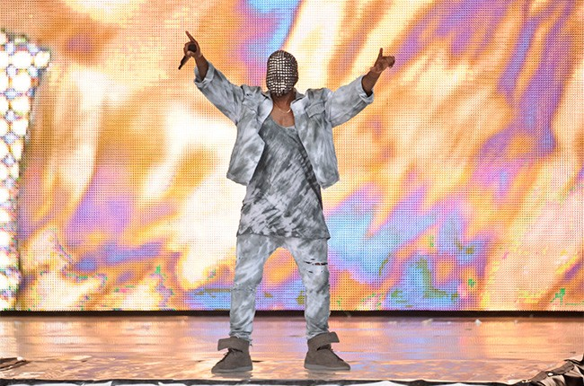 Kanye West performs at Wireless Festival