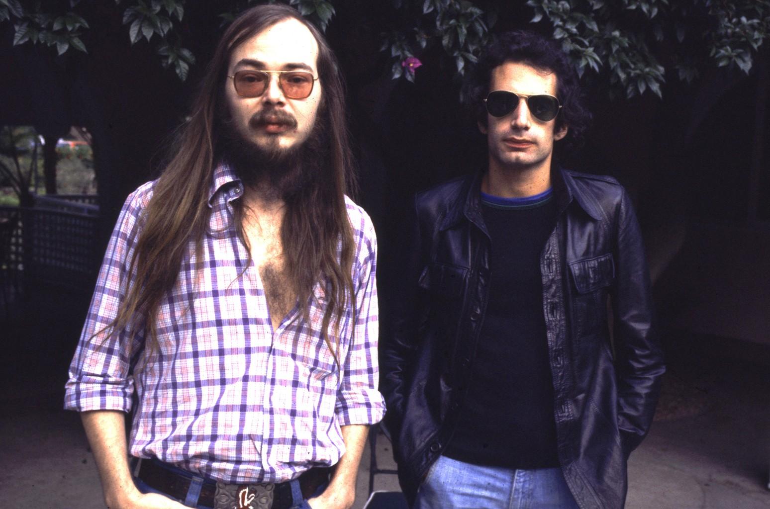 Walter Becker and Donald Fagen of Steely Dan, 1977