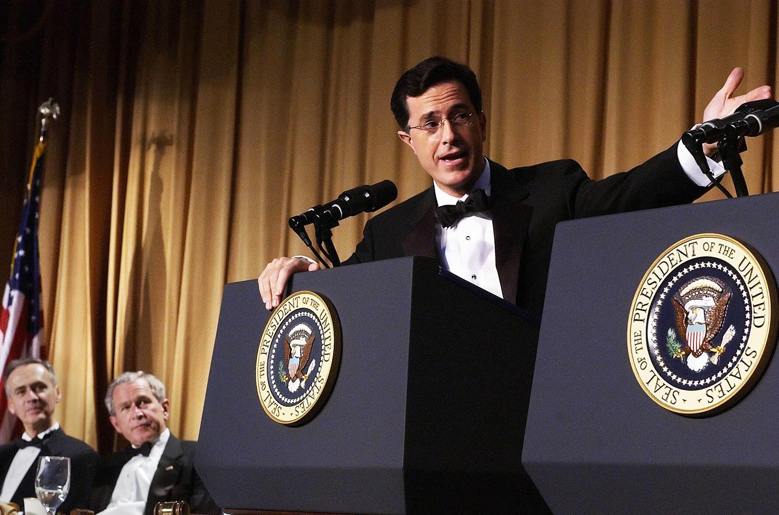Stephen Colbert, George W. Bush & Tom Curley