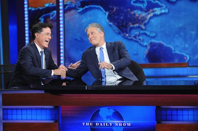 Stephen Colbert and Jon Stewart 2015
