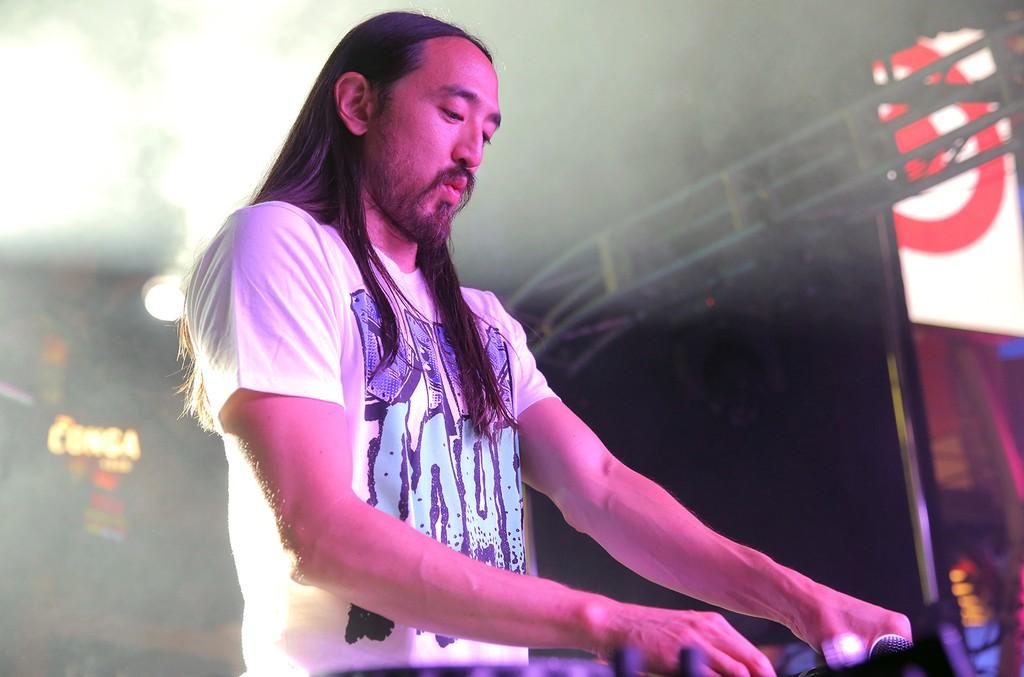 Steve Aoki performs in Los Angeles