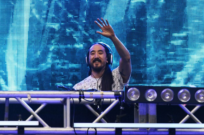 Steve Aoki performs at Ultra Music Festival