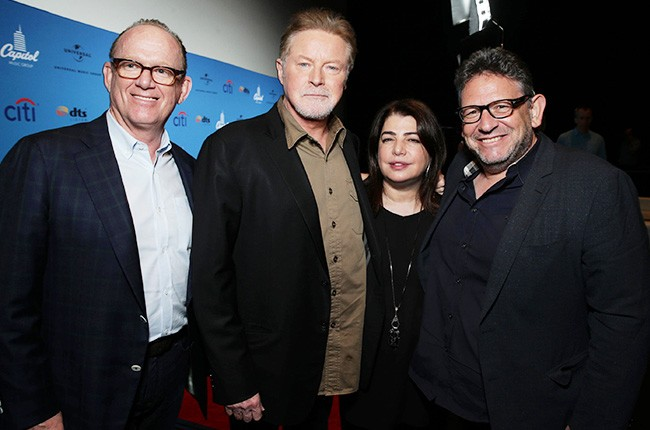 Capitol Music Group (CMG) Chairman & CEO Steve Barnett, Don Henley, UMG EVP of U.S. Recorded Music Michele Anthony and Universal Music Group (UMG) Chairman & CEO Lucian Grainge