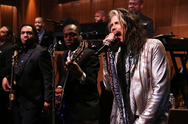 Steven Tyler appears on the Tonight Show with Jimmy Fallon