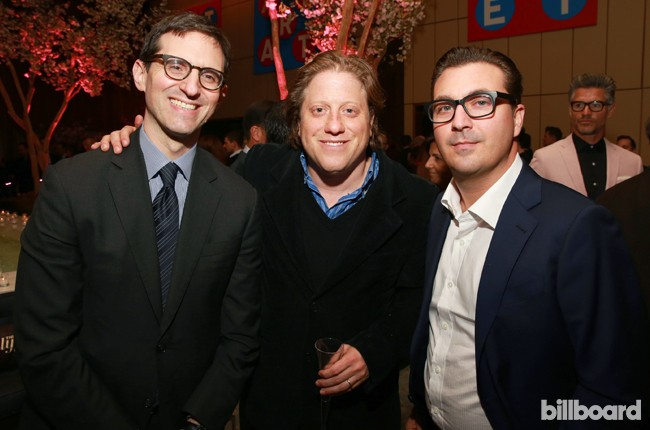 Steven Rubenstein, Peter Shapiro and Billboard's John Amato attends The 35 Most Powerful People in Media hosted by The Hollywood Reporter