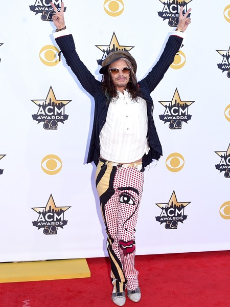 Steven Tyler of Aerosmith attends the 50th Academy Of Country Music Awards