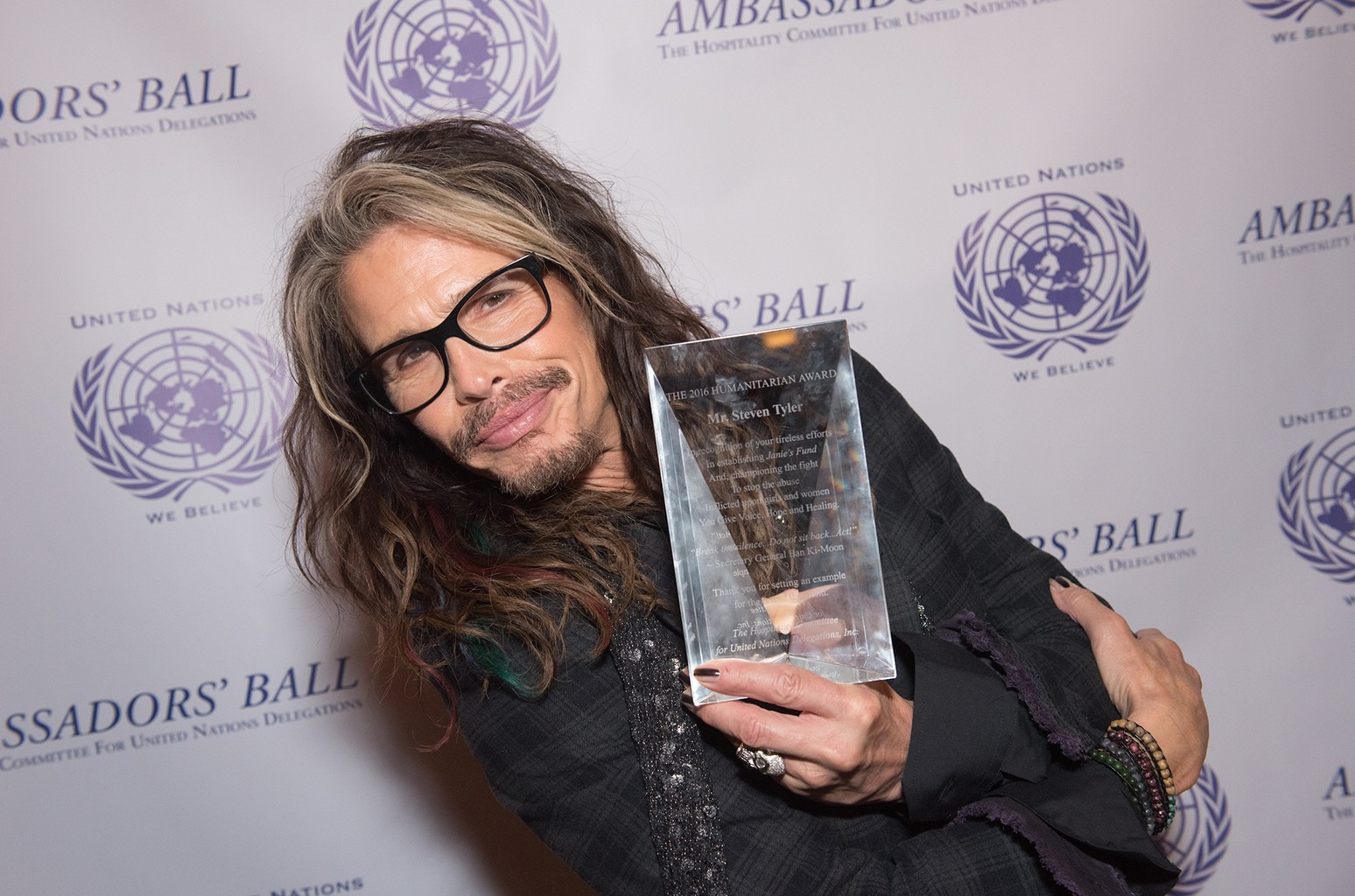 Steven Tyler at The Hospitality Committee For United Nations Delegations