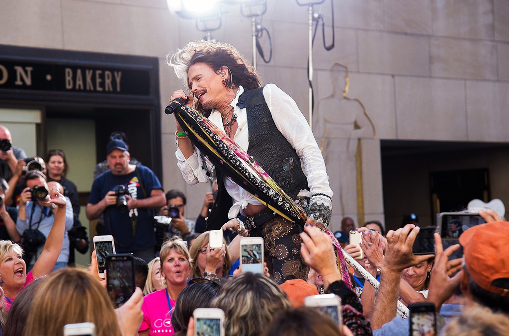 Steven Tyler performs on NBC's Today show