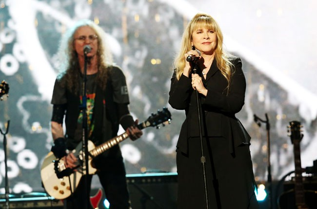 Stevie Nicks performing at the Rock And Roll Hall Of Fame Induction Ceremony