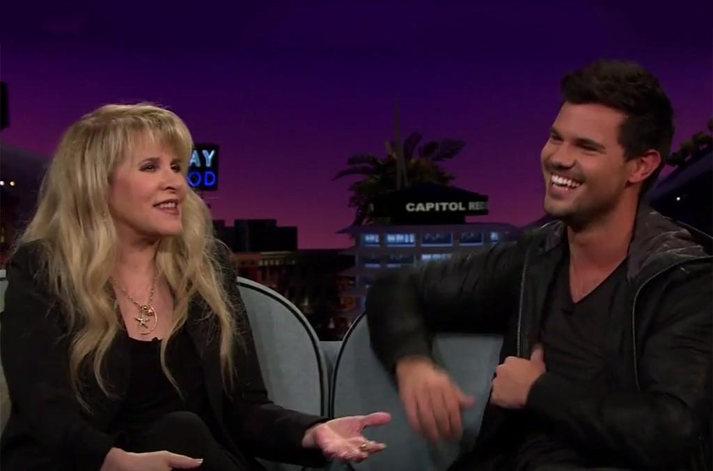 Stevie Nicks and Taylor Lautner