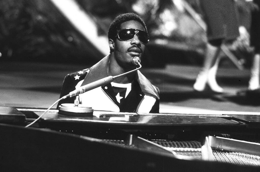 Stevie Wonder photographed in 1971.